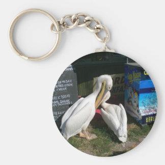 Two Pelicans Basic Round Button Keychain