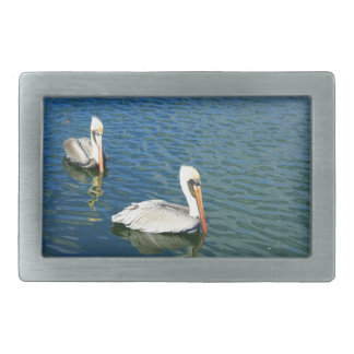 Two Pelicans on Water Belt Buckle