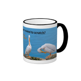 Two Pelicans with an Itch Ringer Mug