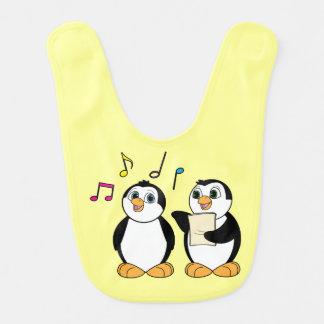Two Penguins Singing Baby Bib