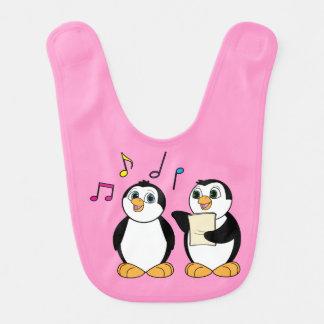 Two Penguins Singing Bib