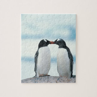 Two Penguins touching beaks Jigsaw Puzzle