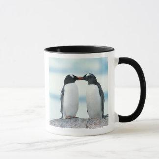 Two Penguins touching beaks Mug