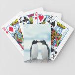 Two Penguins touching beaks Poker Cards