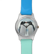 Two Penguins touching beaks Wristwatch
