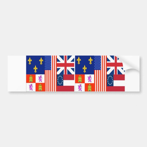 TWO Pensacola Flag Bumper Stickers