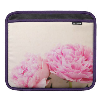 Two peonies pink sleeve for iPads