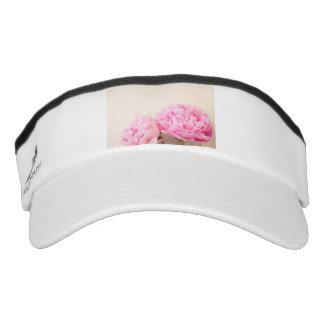 Two peonies pink visor