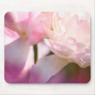 Two Peony Flowering Tulips with Petals Touching Mouse Pad