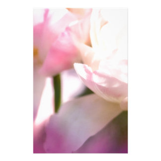 Two Peony Flowering Tulips with Petals Touching Stationery