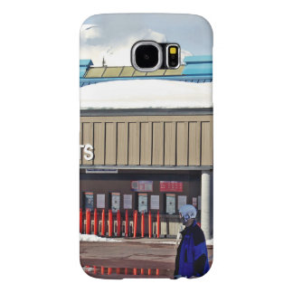 Two People At Ski Sport Resort Samsung Galaxy S6 Cases