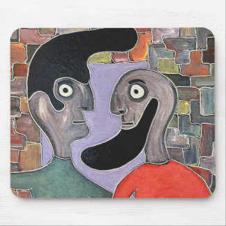 Two people by rafi talby mouse pad
