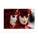 Two People in Carnival Masks, Venice (Italy) Postcards