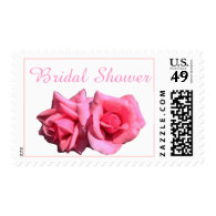two perfect rose flowers bridal shower postage