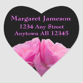 Two Perfectly Pink Roses Wedding Address Label