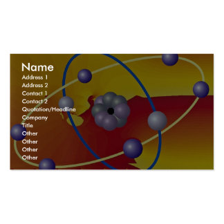 Two perpendicular orbits photo Double-Sided standard business cards (Pack of 100)