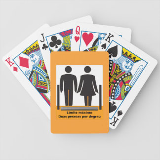 Two Persons by Step Sign, Brazil Bicycle Playing Cards
