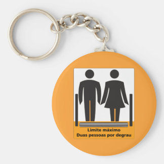 Two Persons by Step Sign, Brazil Keychains