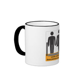 Two Persons by Step Sign, Brazil Mugs
