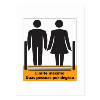 Two Persons by Step Sign, Brazil Postcard