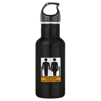 Two Persons by Step Sign, Brazil Water Bottle