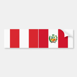 TWO Peru National Flag Bumper Sticker