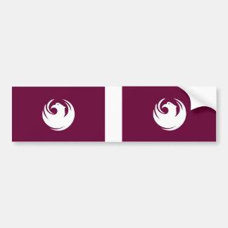 TWO Phoenix Flags Bumper Sticker