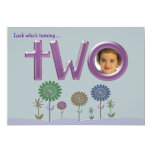 """two"" Photo Birthday Invitation"