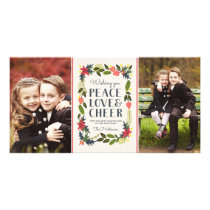 Two Photo Festive Frame Holiday Photo Card