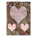 Two Photo  Mother's Day Photo Frame Greeting Card