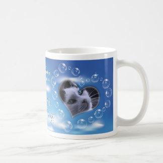 Two Photo Personalized Bubble Heart Pet Memorial Coffee Mug