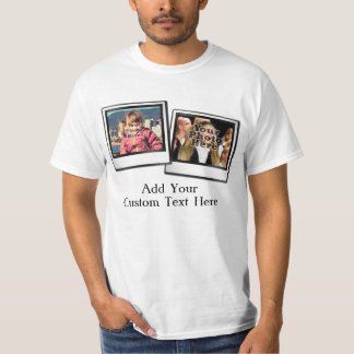 Two Photo Snapshot with 1 Caption T-Shirt