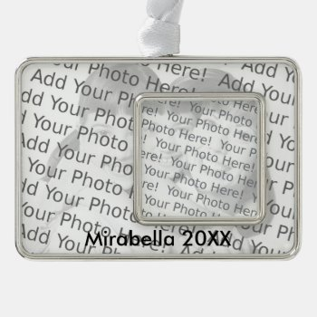 Two Photos And Text Ornament by HolidayBug at Zazzle