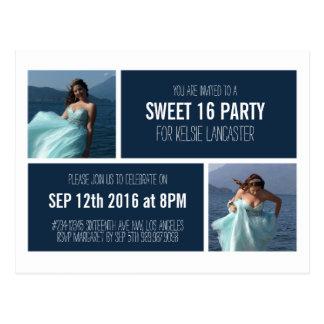 Two Photos Party Invite Postcard