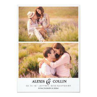 Two Photos Simple Save the Date Card