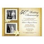 "two photos wedding anniversary invitations 5"" x 7"" invitation card"