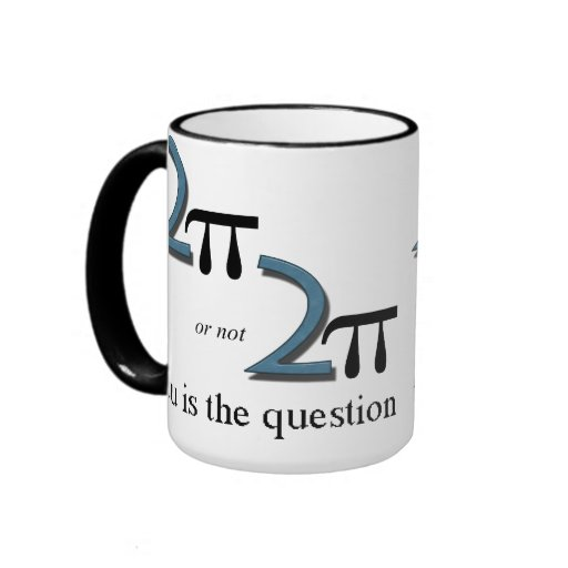 Two Pi or Not Two Pi Ringer Coffee Mug