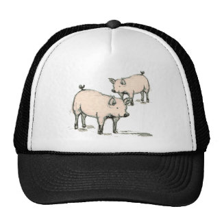 two piggies trucker hat