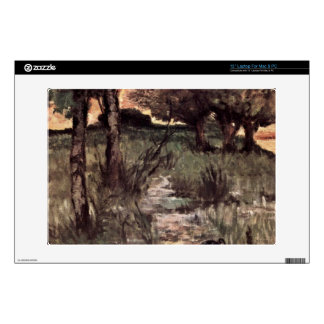 Two pigs on pasture by Giovanni Fattori Laptop Skin