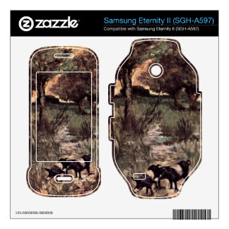 Two pigs on pasture by Giovanni Fattori Samsung Eternity II Decal
