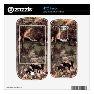 Two pigs on pasture by Giovanni Fattori HTC Hero Skin