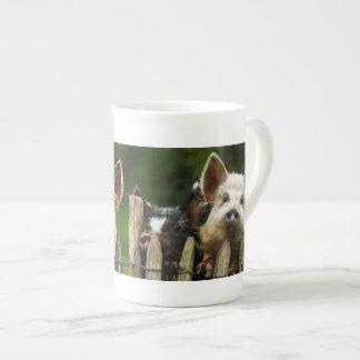 Two pigs - pig farm - pork farms tea cup