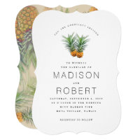Two Pineapples Hawaiian theme Wedding Invitations