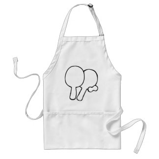 two ping-pong paddles icon adult apron