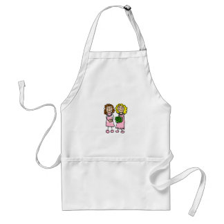Two Pink Brides Adult Apron