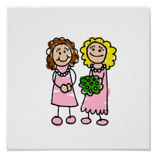 Two Pink Brides Poster
