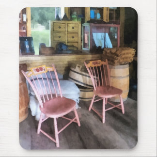 Two Pink Chairs In General Store Mousepads