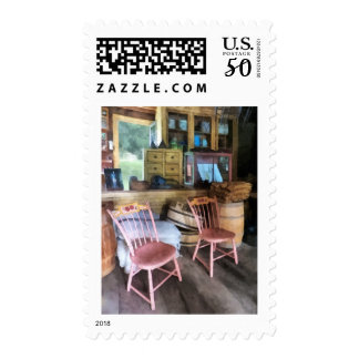 Two Pink Chairs In General Store Postage