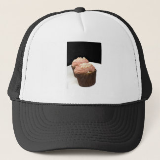 two pink cupcakes trucker hat
