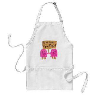 two pink equality adult apron